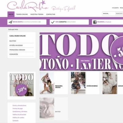 Web y tienda online Boutique infantil Carla Rubio