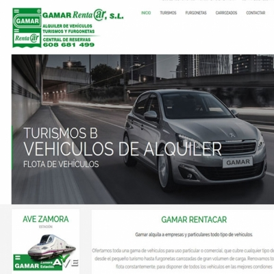 Web gamar rent a car