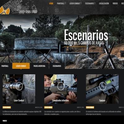 Web del centro de Paintball y Aventura en Toro, Zamora.