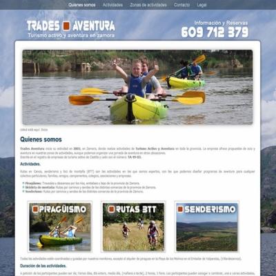 Web Trades Aventura, turismo activo.