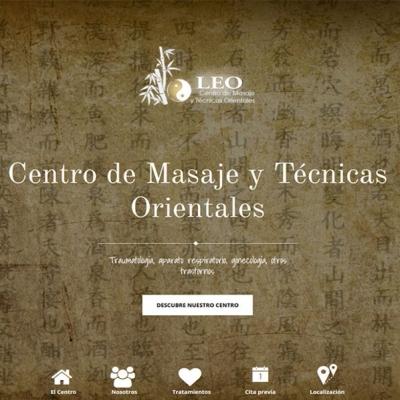 Web Centro de Masaje Leo